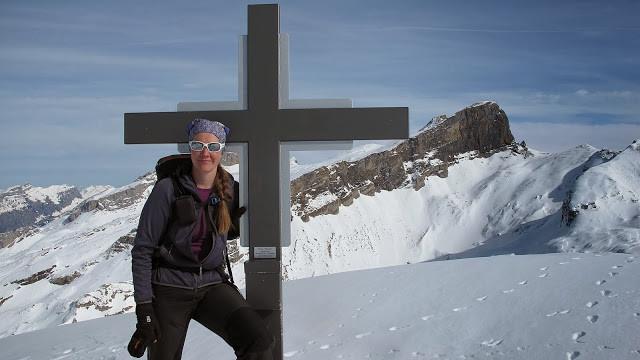 auf dem Siwfass mit dem 1. Gipfel von heute im Hintergrund