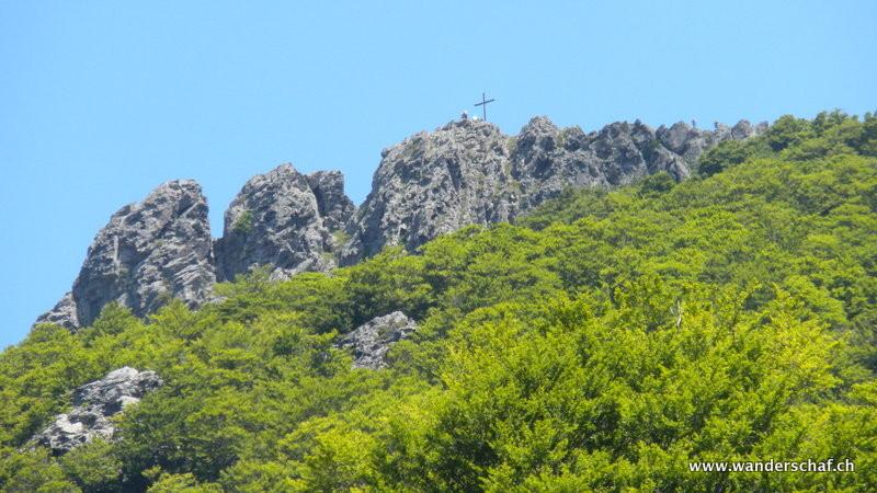Monte San Petrone ist in Sicht