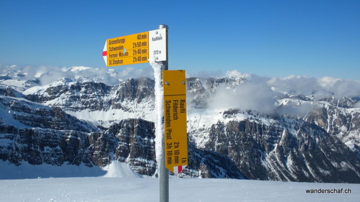"""""""Gipfelkreuz"""" auf dem Rauflihore"""
