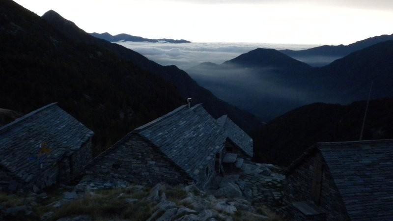 Alpe Spluga in Morgenstimmung