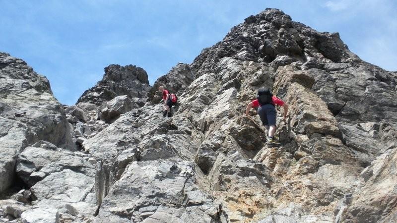 eine der Kletterstellen I