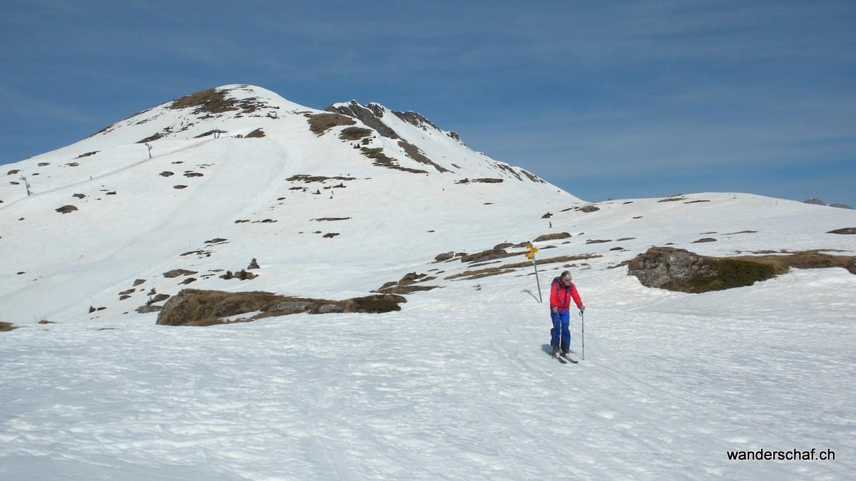 Abfahrt vom Skilift Richtung La Palette