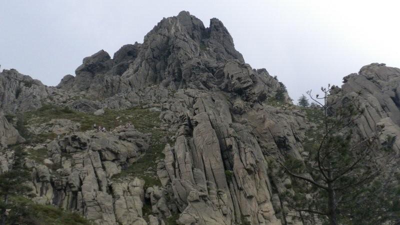Blick zurück zur Punta di a Vacca