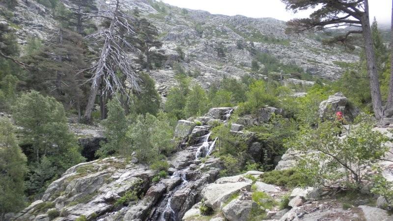 oberhalb des Waldes folgt der felsige Abschnitt