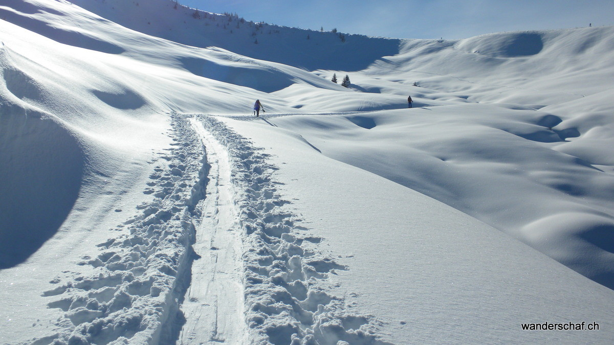 Aufstieg zur Alp Engel