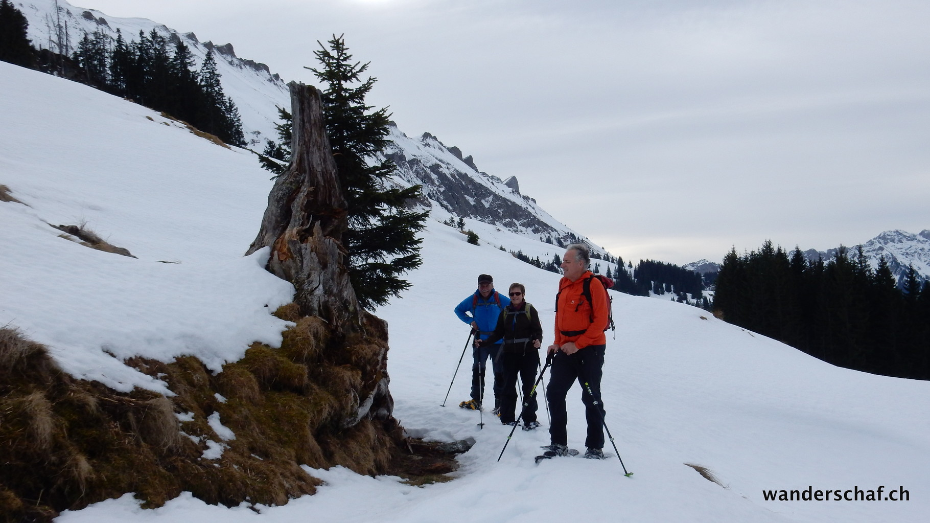 im Aufstieg Richtung Alp Stei
