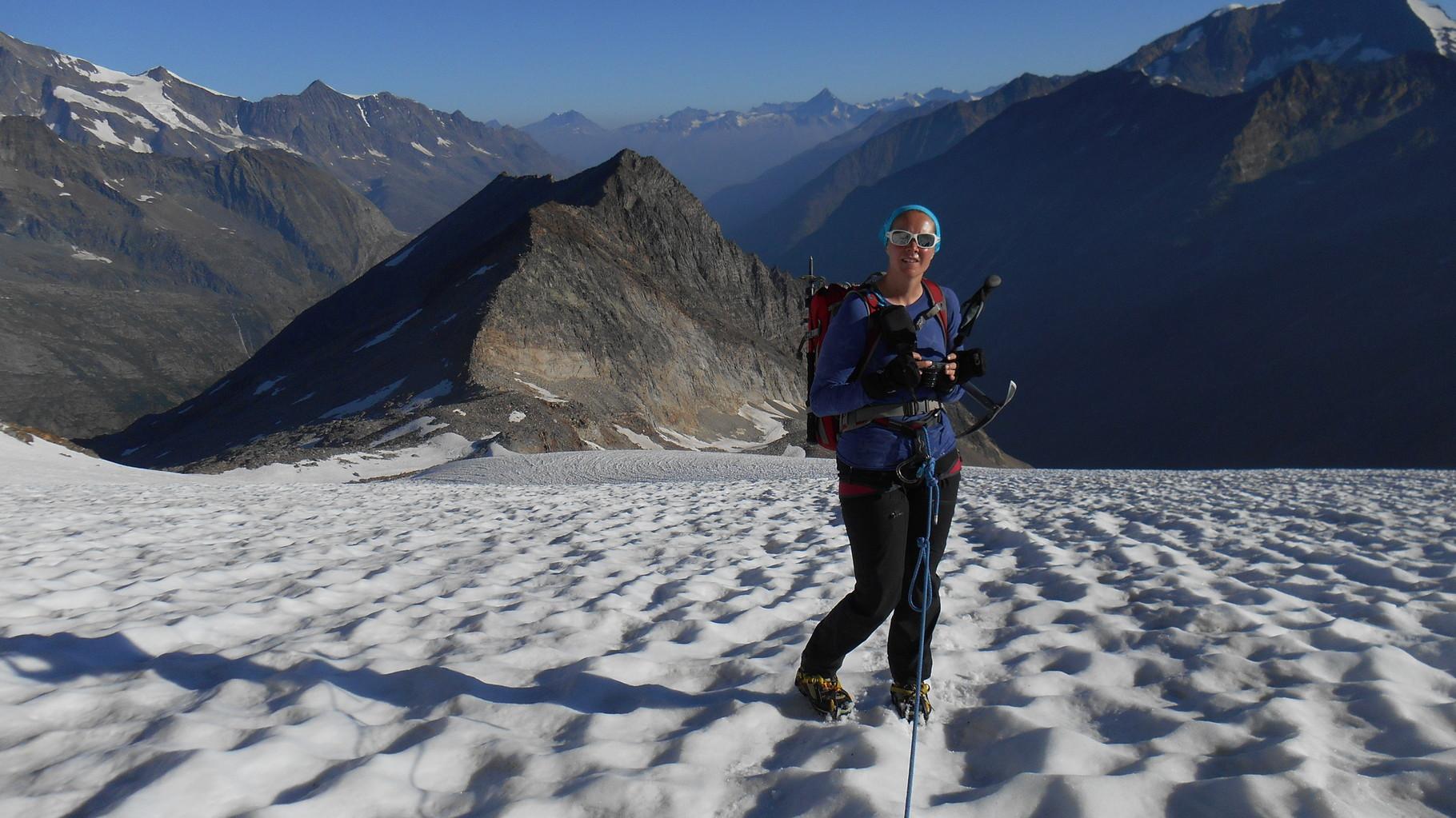 auf dem Gletscher Richtung Stellihorn