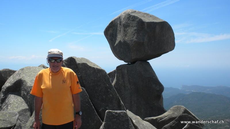 "auf ""unserem"" Gipfel l'Uomo di Cagna"