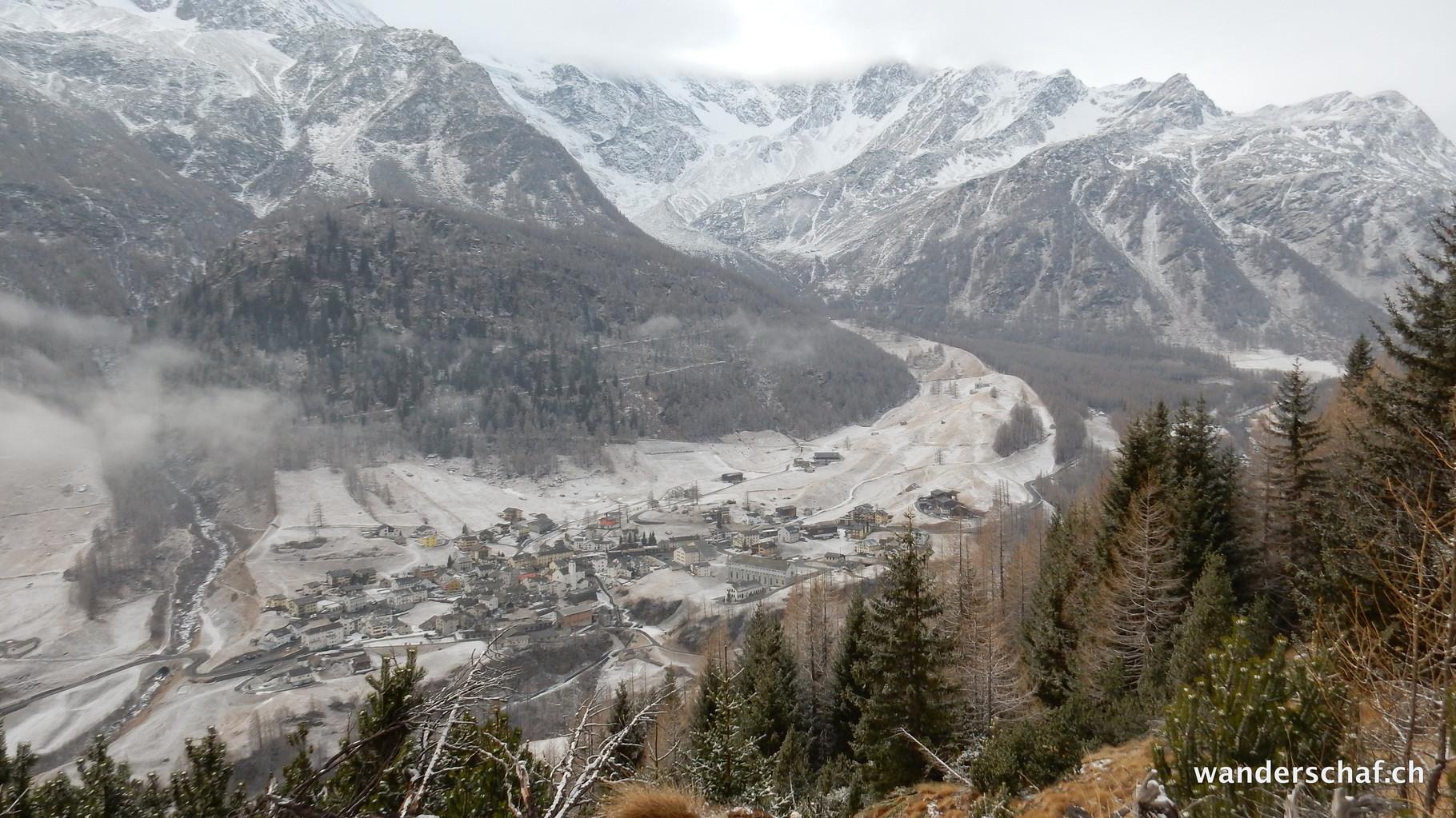 Blick nach Simplon Dorf runter