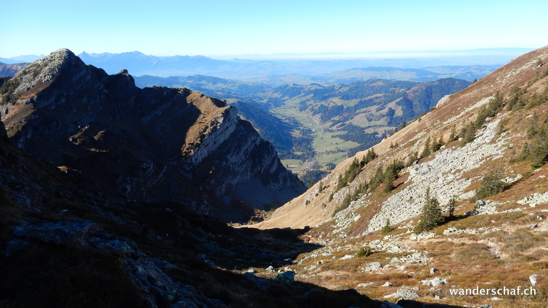 Aufstieg vom Rotmösli via Chrinde