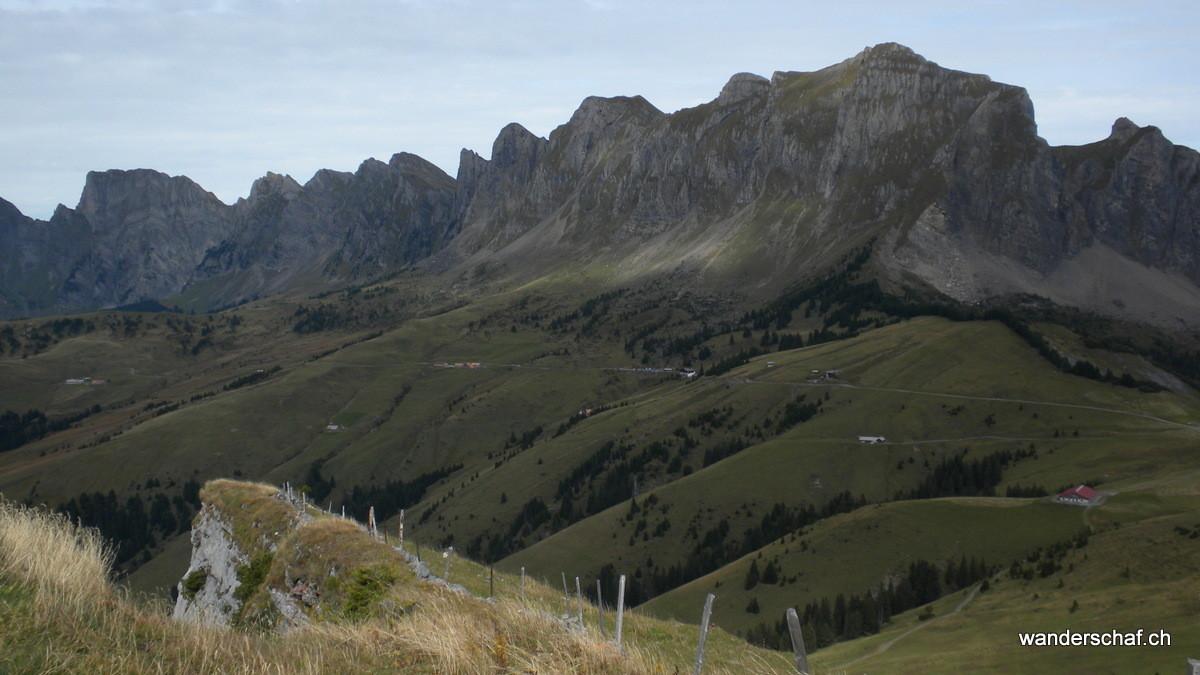 Blick zu Alvier & Gauschla