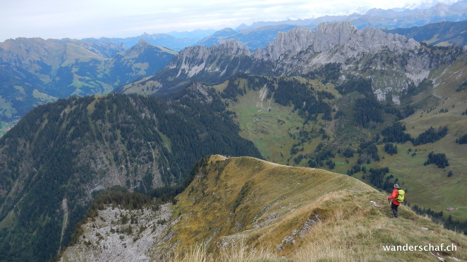 steiler Abstieg vom Cheval Blanc
