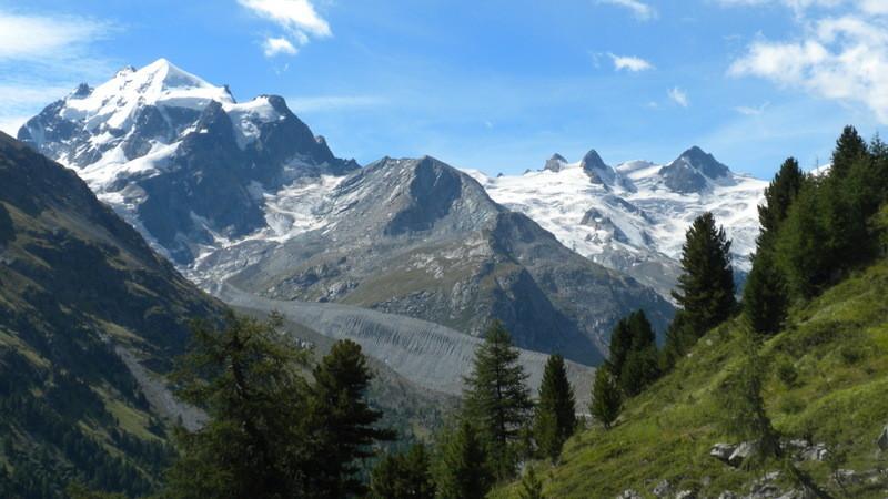 Aussicht während dem Aufstieg zur Fuorcla Surlej