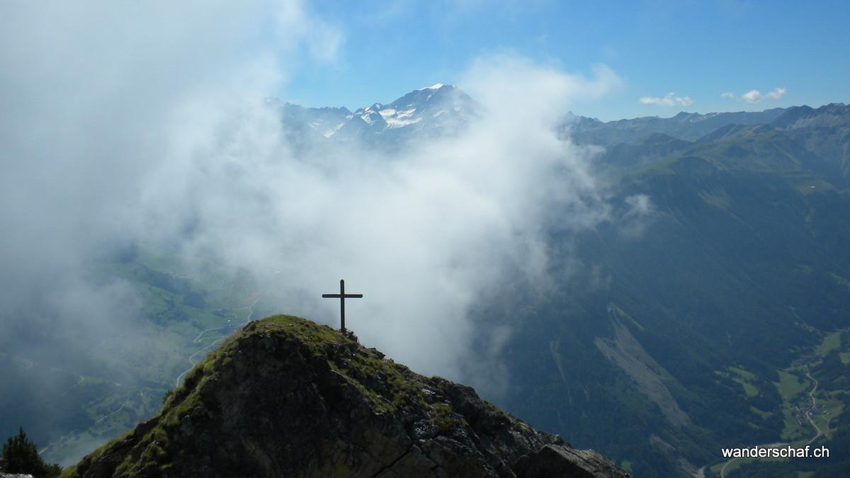 Gipfelkreuz vom Bonnehomme