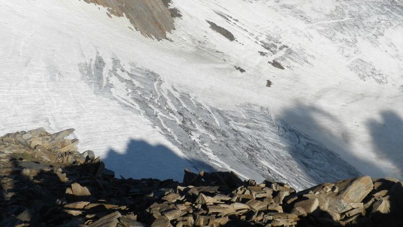 Blick in die Steilstufe des Hohsandgletschers