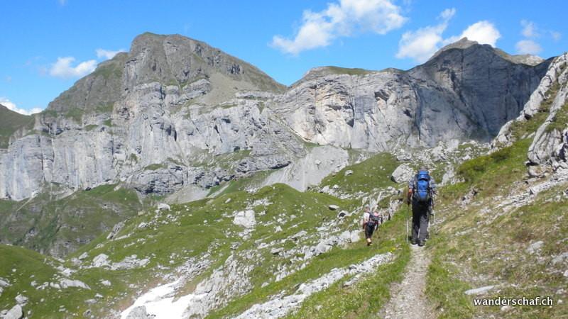 im Abstieg Richtung Alp Stafel
