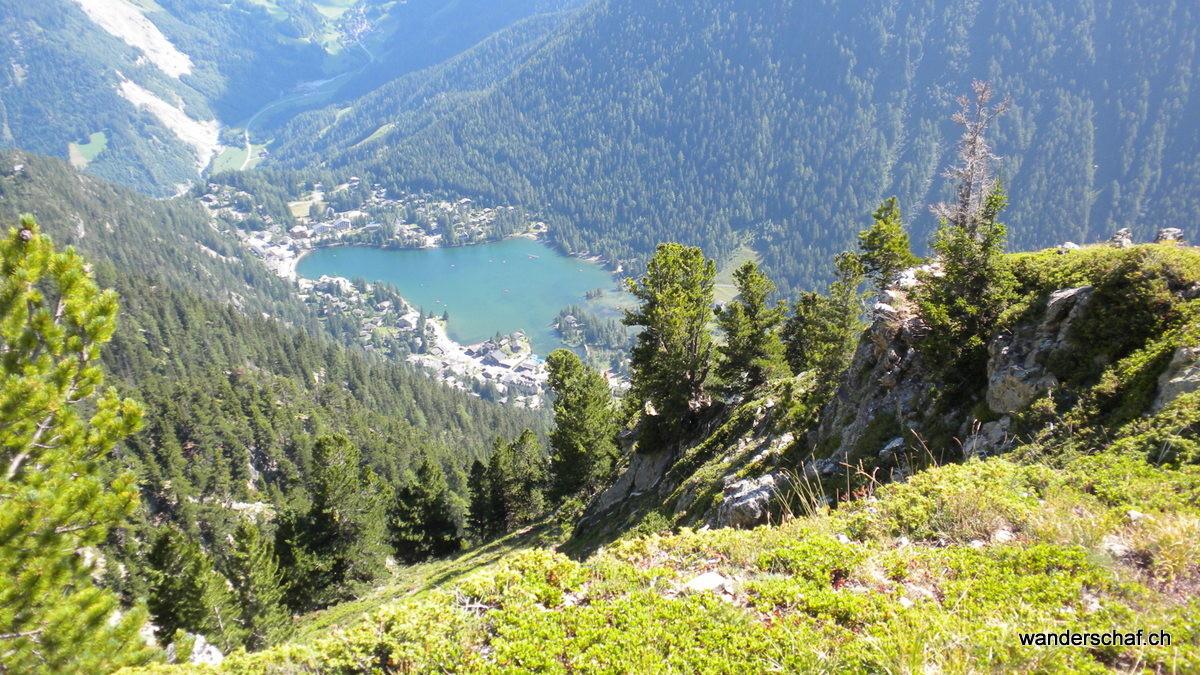 Champex-Lac ist in Sicht