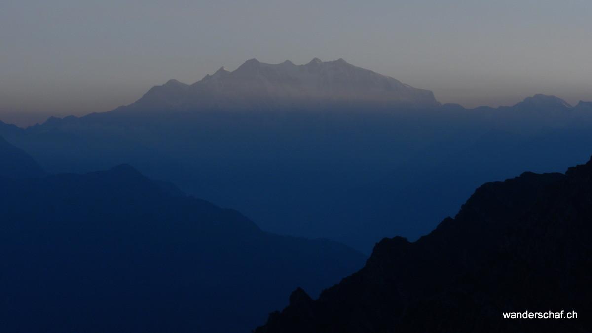 Abendstimmung am Monte Rosa Massiv