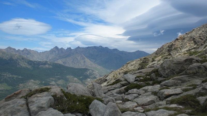 Blick zu unserem morgigen Ziel, dem Monte Cinto