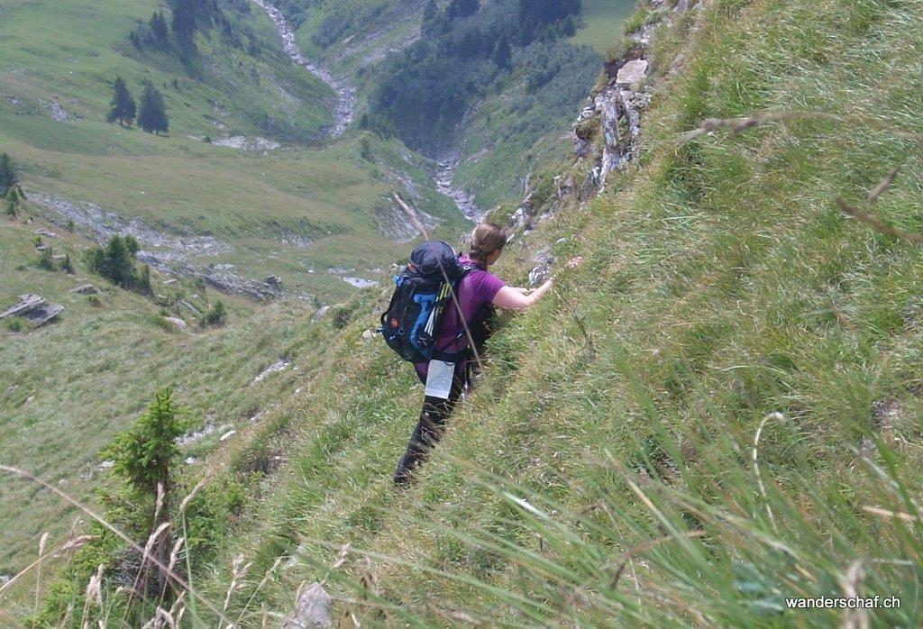 """""""Muttenkraxeln"""" im steilen Gelände.....einmal und nie wieder"""