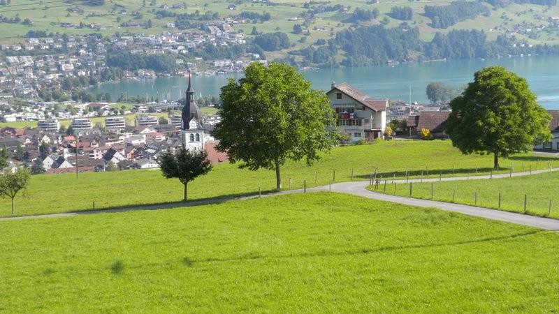 Blick nach Buoch vom Mittelpunkt der Zentralschweiz
