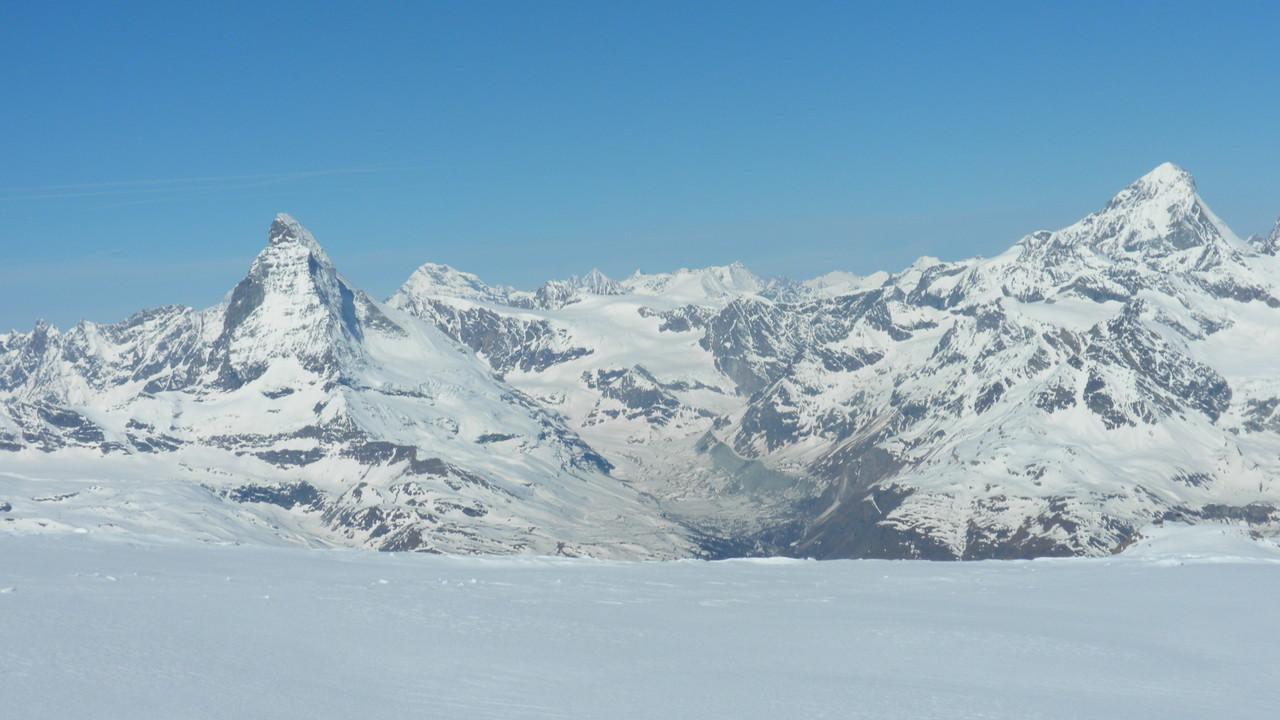 tolle Aussicht zum Matterhorn