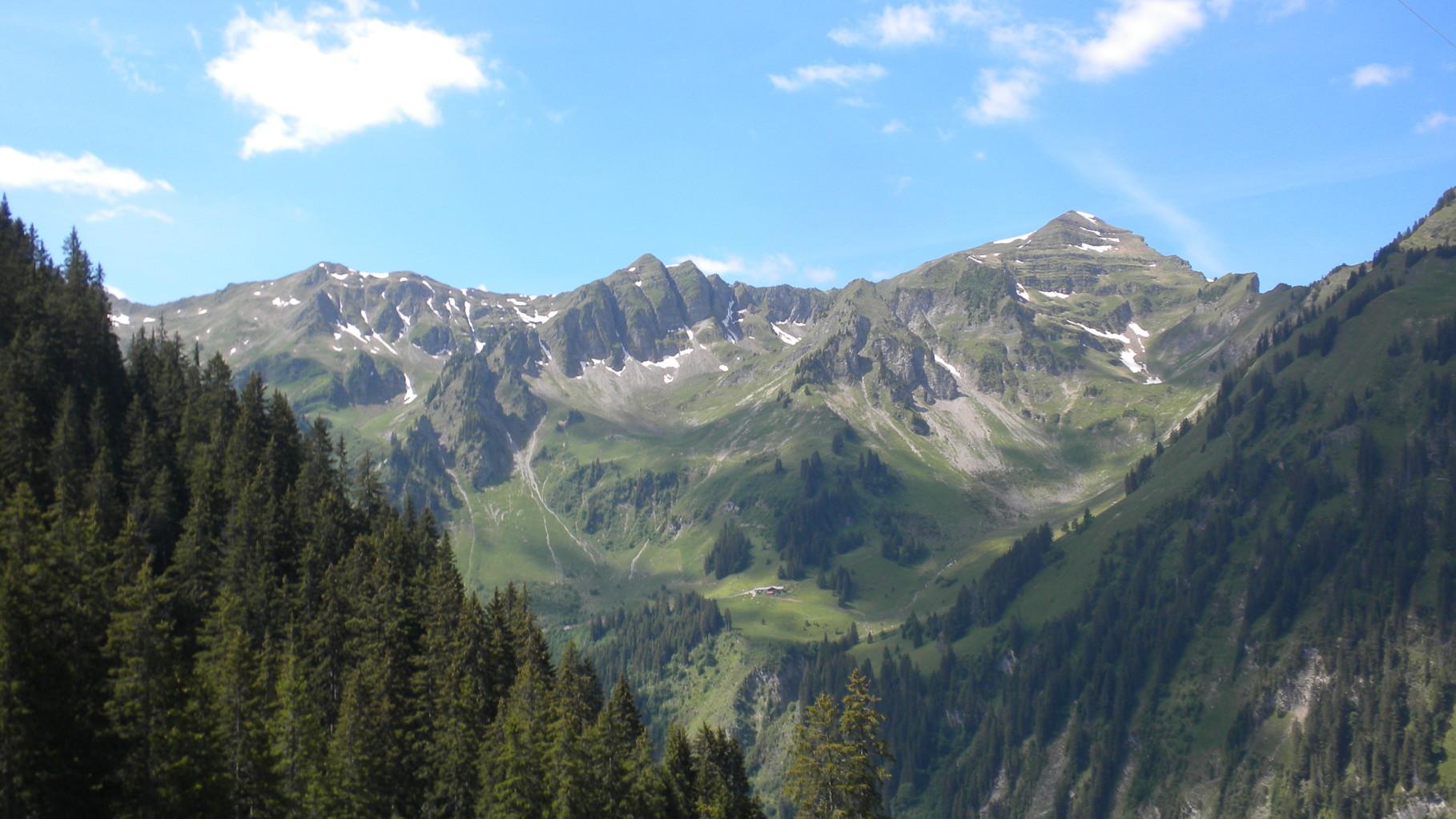 im Aufstieg....Blick Richtung Rauflihorn
