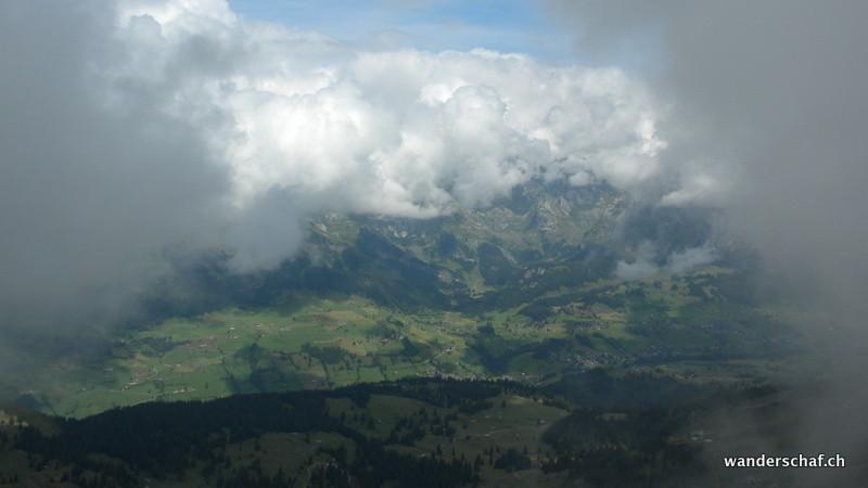 Toggenburg und der Säntis in den Wolken