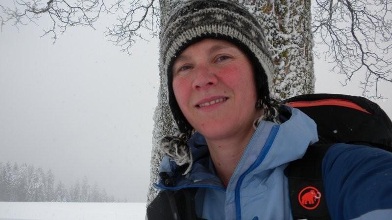 etwas durchgefroren, aber im Schnee umestapfe tuet henne guet!