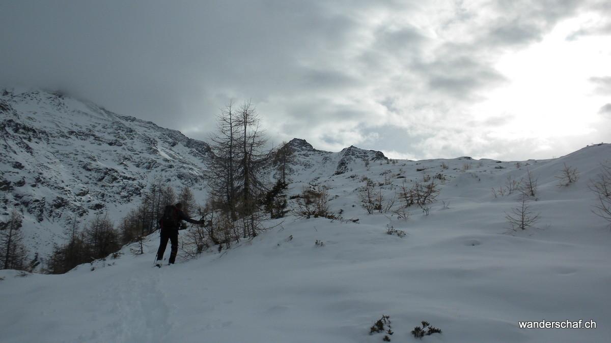 im Austieg zur Chastelegga