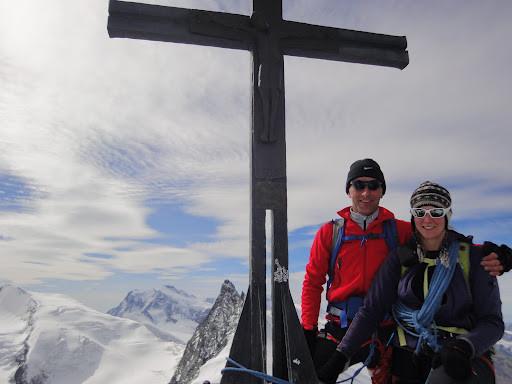 Freude über den Gipfelerfolg