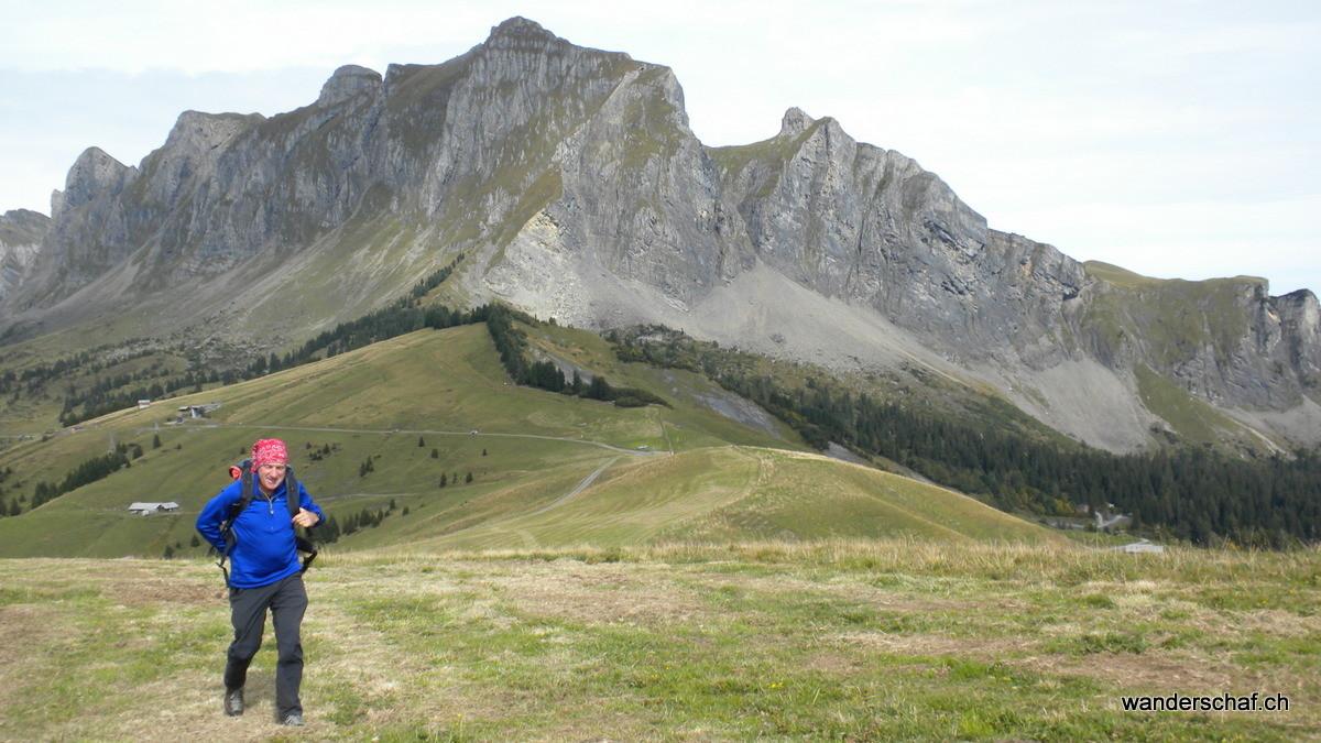 im Aufstieg zum Tschuggen bei Palfries