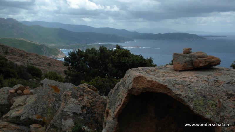 Ausblick Richtung Plage d'Arone