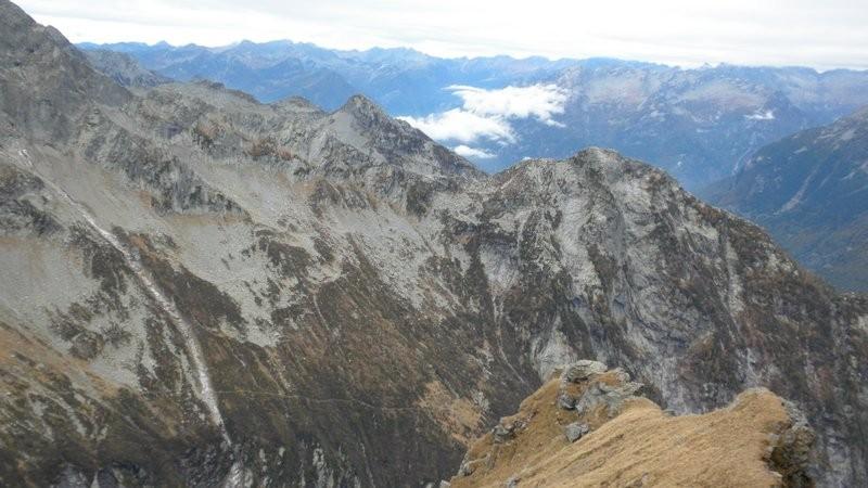Blick zurück zur Bassa di Pertüs
