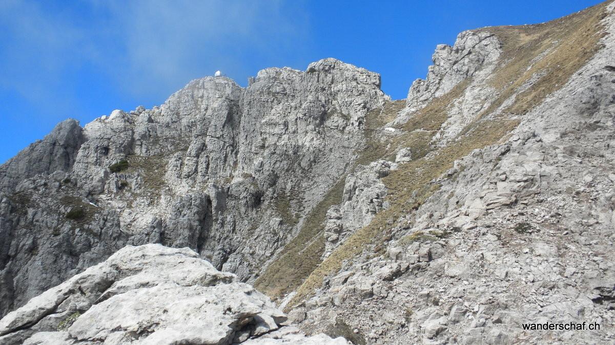 Gipfel der Grignetta in Sicht