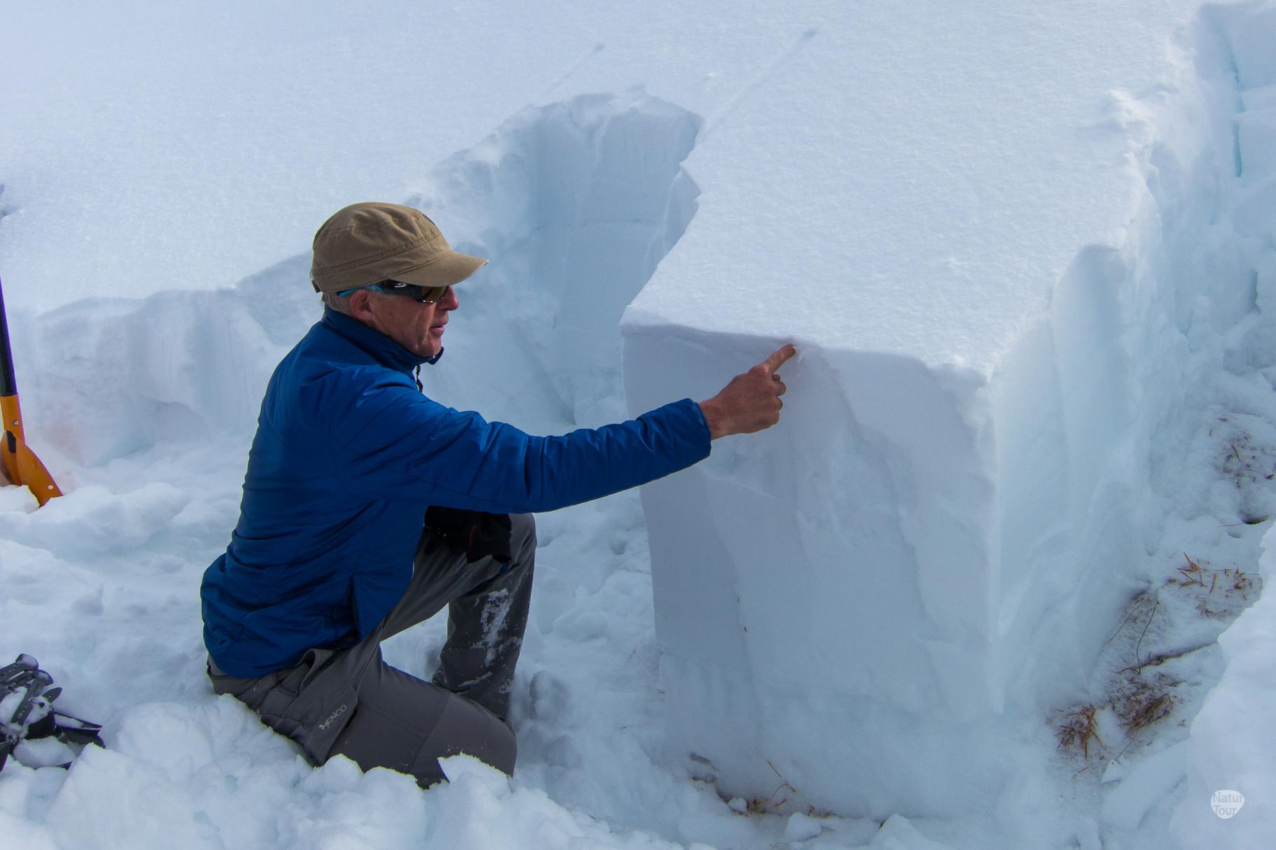 wir erstellen ein Schneeprofil