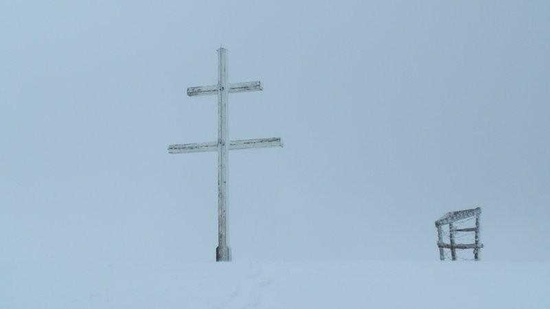 ...dann folgt erneut ein Schneesturm und die Sicht ist weg