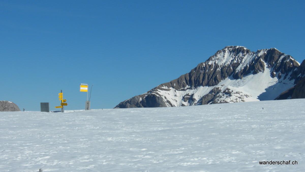 auf dem Col du Sanetsch hat's noch Schnee
