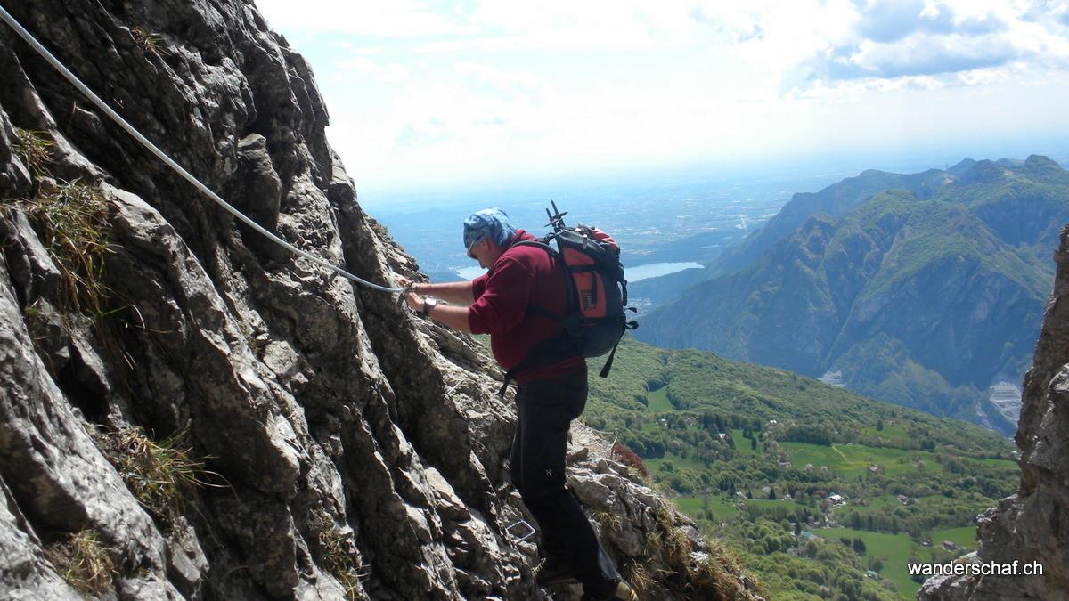 ausgesetze Klettersteigpassagen