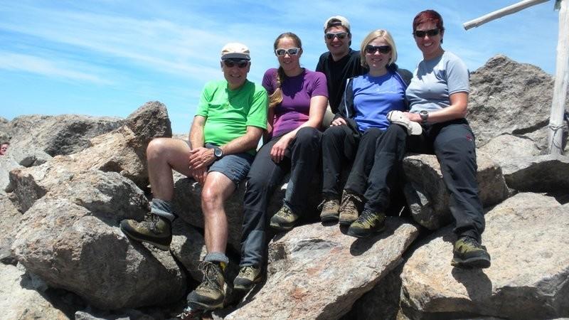 ungeplantes Gipfeltreffen auf dem Monte Cinto