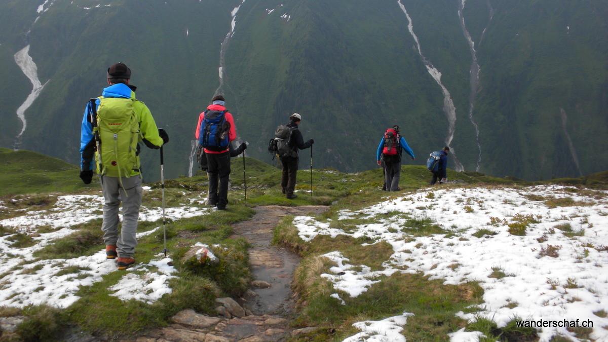 endlich mal ohne Regen.....im Abstieg zum Golzernsee