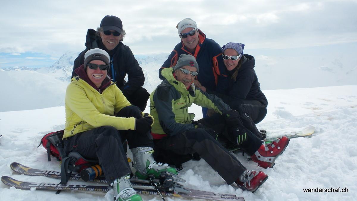 Gipfelfoto auf dem Muntet
