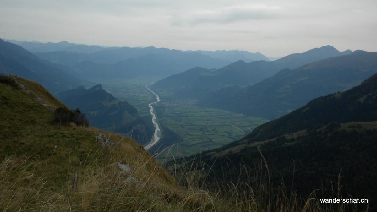 Blick auf die Rheinebene runter