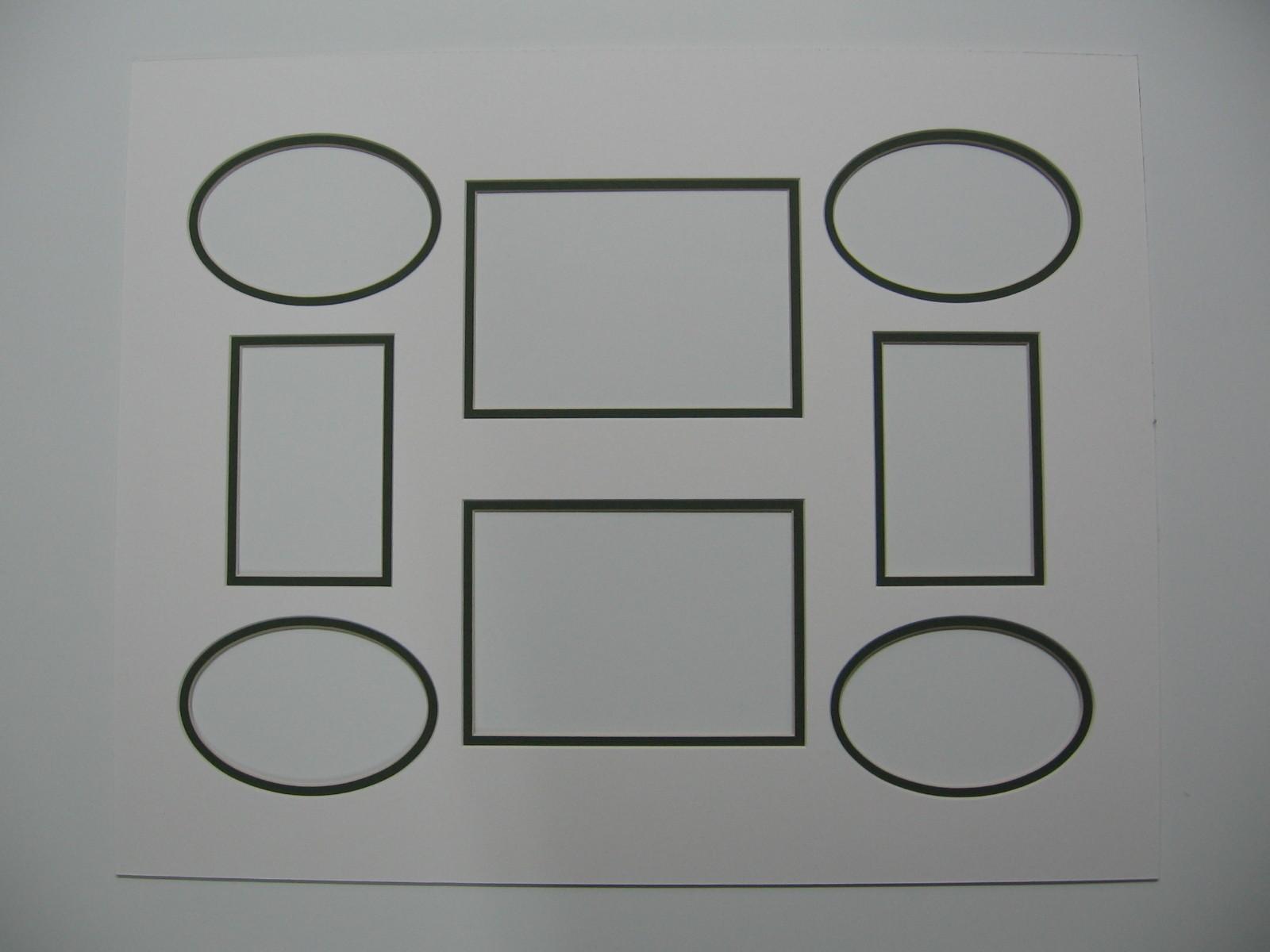 Passepartout a smusso doppio con finestrelle di differenti dimensioni e forma.