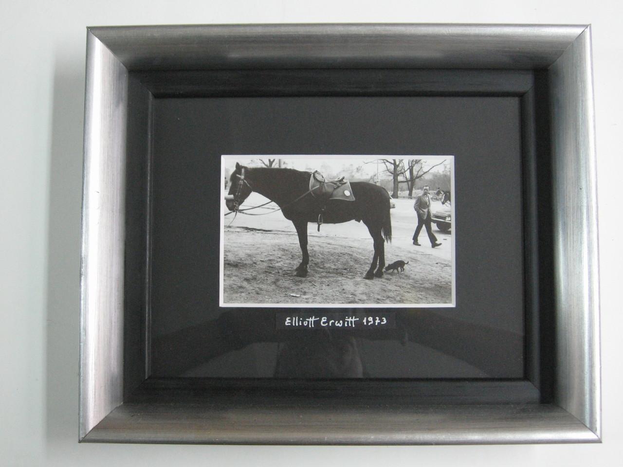 Foto d'autore in bianco/nero con cornice in foglia argento e passepartout a smusso nero.