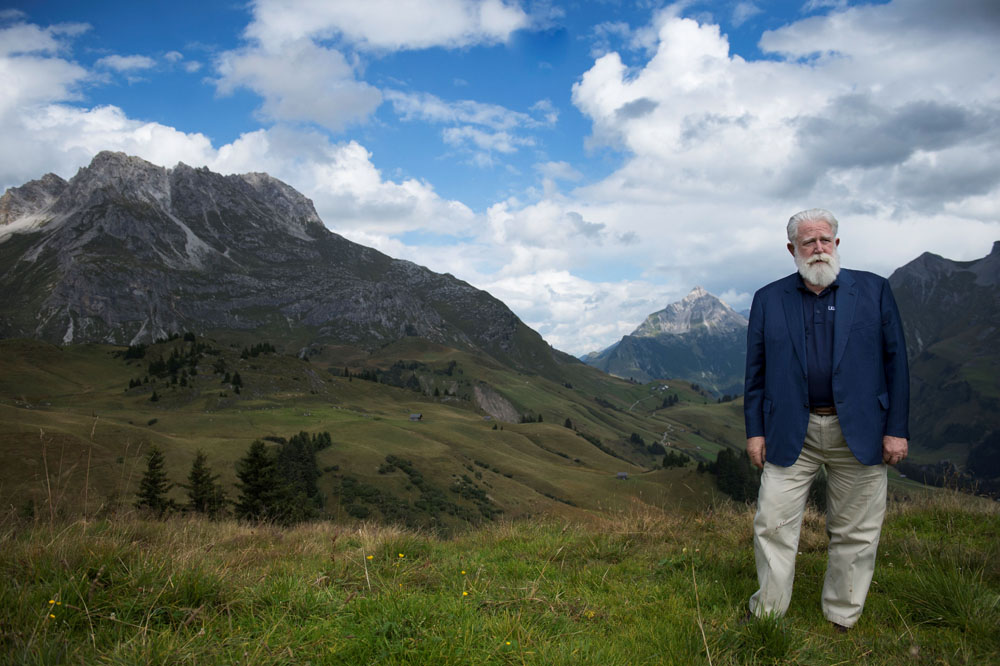James Turrell in Lech am Arlberg im Sept 2014 | Foto © Maria Muxel