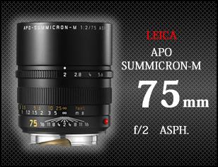 ライカ アポ ズミクロンM f2 75mm ASPH
