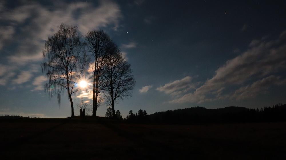 ...die Magie des Mondes 🌛 Gollnerberg Richtung Kohlstatt