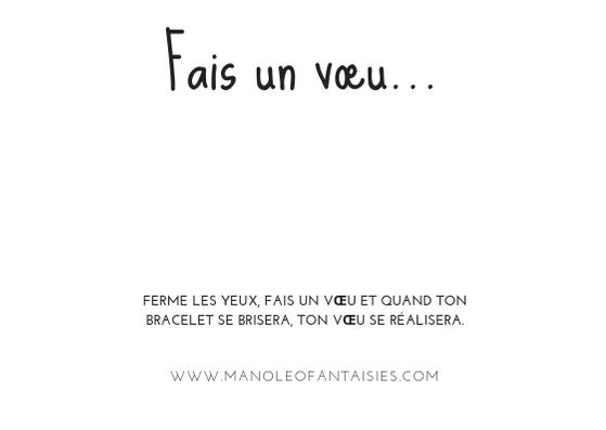 Collection de bracelet fais un vœu  Manoléo Fantaisies