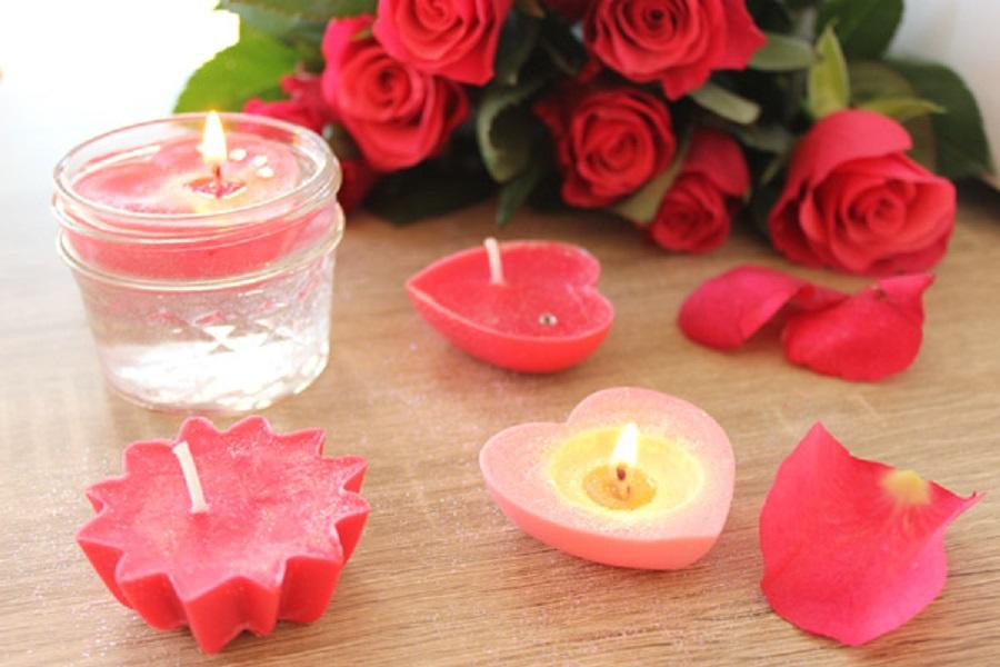 DIY bougies flottantes saint valentin